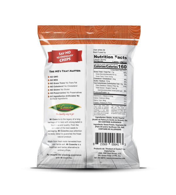 Mi Cosecha Chips de Batata - Valor Nutricional