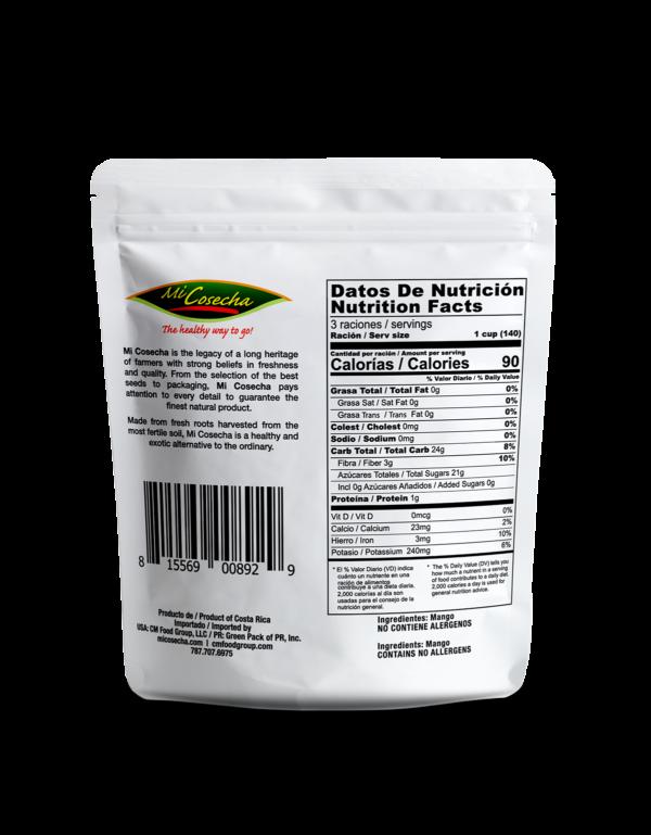 Mi Cosecha Mango en Trozos - Valor Nutricional