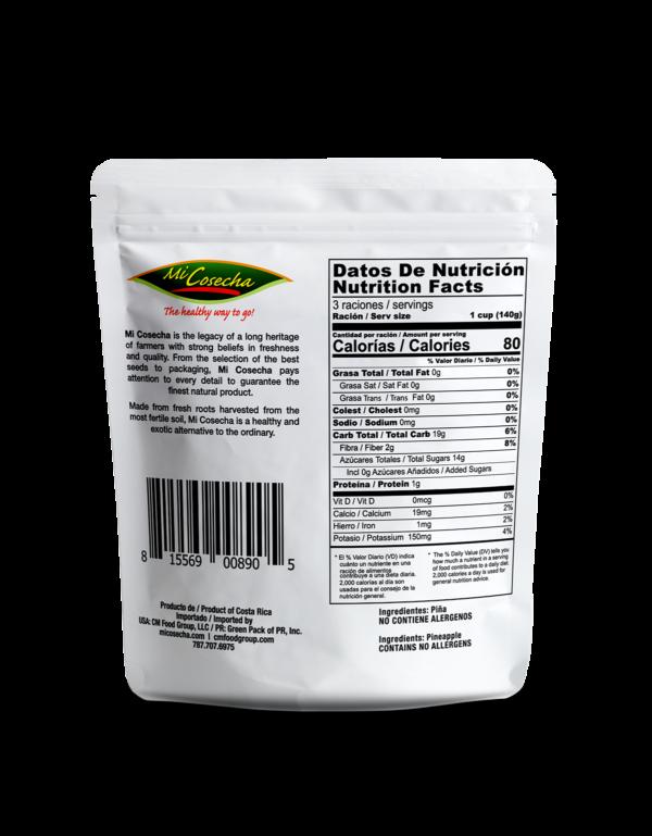 Mi Cosecha Piña en Trozos - Valor Nutricional