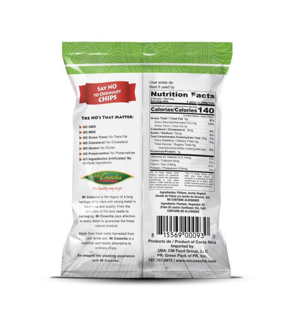 Mi Cosecha Platanutres - Valor Nutricional