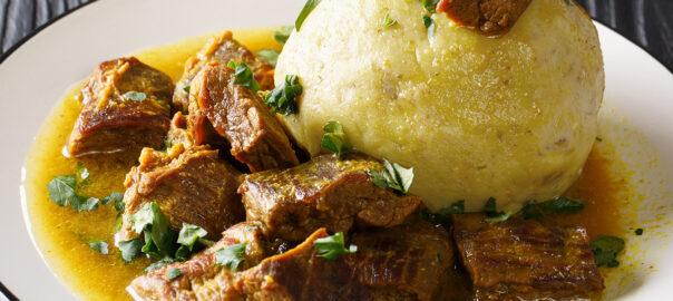 Mofongo de Pana (Breadfruit) - Mi Cosecha - Receta, Recipe