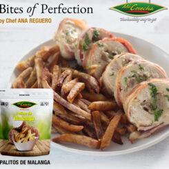 """Bites of Perfection – Pechuga de Pollo Rellena de Palitos de Malanga """"Mi Cosecha"""" envuelta en Tocino"""