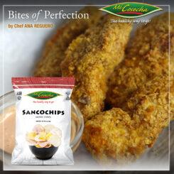 """Bites of Perfection –  Deditos de Pollo empanizados en Sancochips """"Mi Cosecha"""""""
