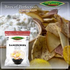 Dip de Crema Agria y Cebolla con Sancochips Mi Cosecha